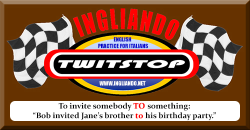 To invite